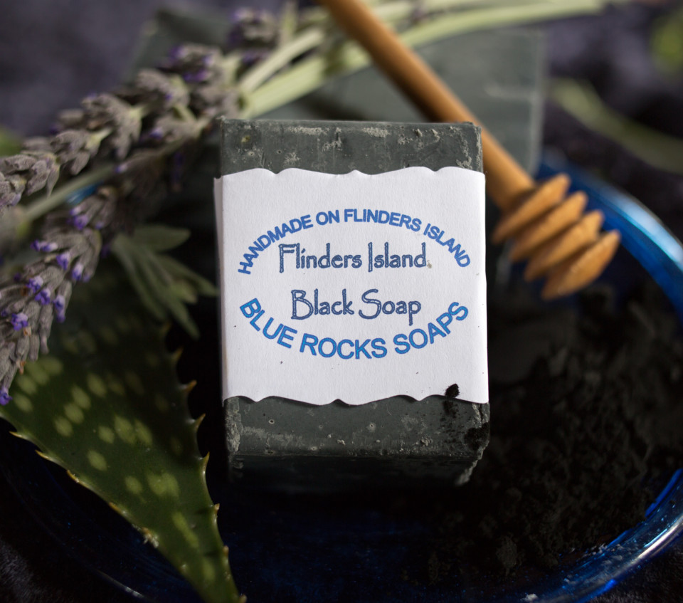 Flinders Island Black Soap- Blue Rocks Soaps